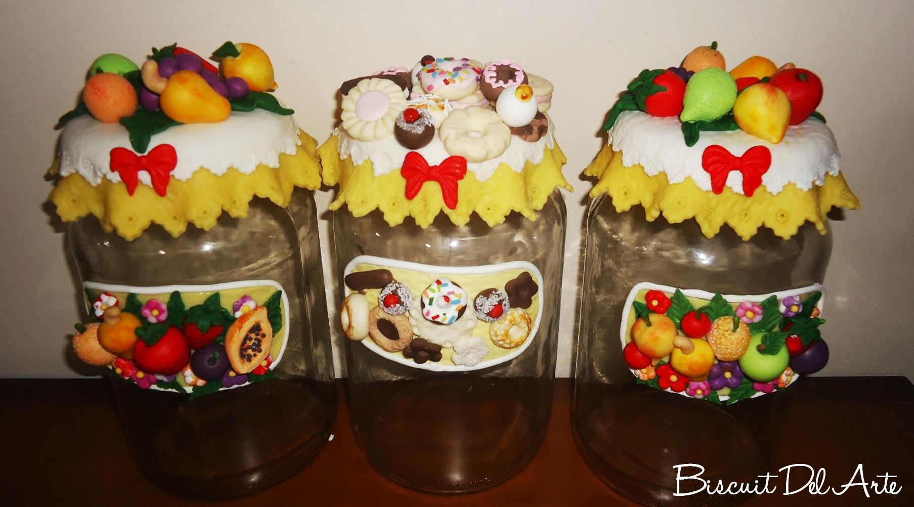 Vidros E Objetos Decorados P Gina 8 Biscuit Del Arte ~ Potes Decorativos Para Cozinha